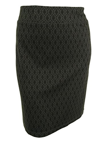 Style & Co. Women's Printed Ponte Knit Pull-On Skirt (1X-Large)