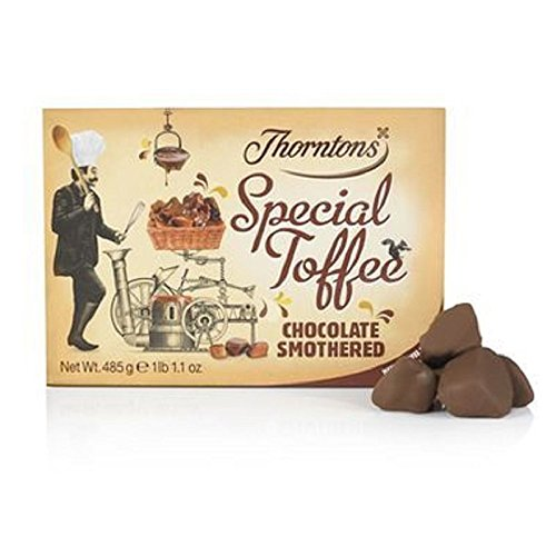 Thorntons Chocolate Smothered Special Toffee Box (485g) (Pack of 6)