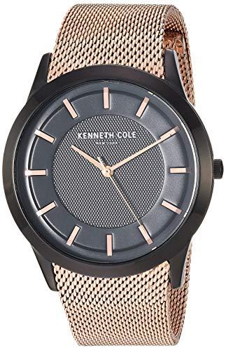 Kenneth Cole New York Men's Slim Watch Japanese-Quartz Stainless-Steel Strap, Rose Gold, 19.9 (Model: KC50566002 (Kenneth Cole Watches Rose Gold)