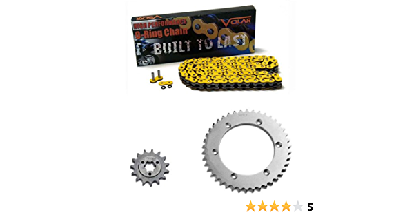 Yellow for 1990-1993 Suzuki DR250 Volar Chain and Sprocket Kit Heavy Duty