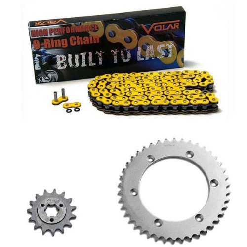 - 1996-2018 Suzuki DR650SE O-Ring Chain and Sprocket Kit - Yellow