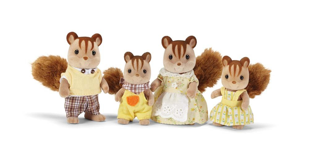 Calico Critters Hazelnut Chipmunk Family Playset