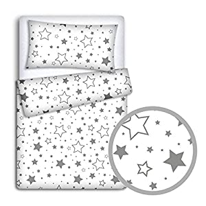 Baby Bedding Set Pillowcase + Duvet Cover 2PC to FIT Baby Cot (Milky Way)