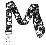 #6: Sloth Print Lanyard Key Chain Id Badge Holder