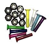 1' Longboard Skateboard Hardware Screws Set - Mixed Colors