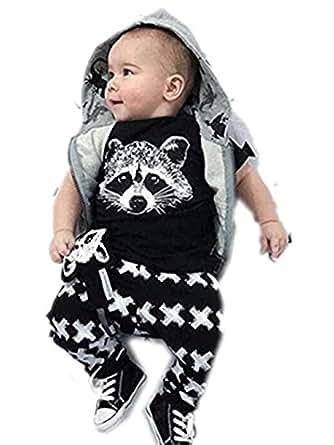 para la ropa del bebé,RETUROM fresco recién nacidos para niños Niños bebés Trajes camiseta tops + Pants juego de ropa (100)