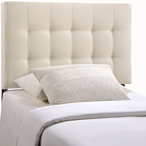 Modway AMZ-5148-IVO Lily Upholstered Tufted Fabric Twin Headboard Size in Ivory
