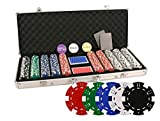 DA VINCI 500 Piece Executive 11.5 Gram Poker Chip Set with Case and Cards - Dice Striped