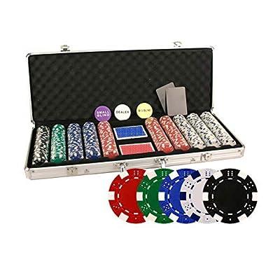 Da Vinci 500 Piece Executive 11.5 Gram Poker Chip Set w/Case & Cards (Dice Striped)