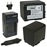 Wasabi Power Battery and Charger Kit for Canon BP-819, VIXIA HF10, HF11, HF20...