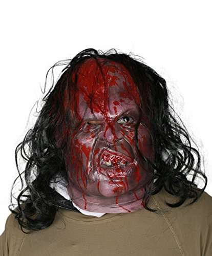 xcoser Victor Crowley Mask with Wig Deluxe Latex Horrible Full Head Halloween Cosplay Costume (Victor Crowley Costume)