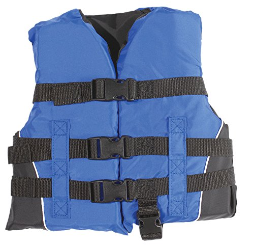 Black Kids Life Vest (MW Child 3-buckle Nylon Life Jacket Vest - Blue/Black)