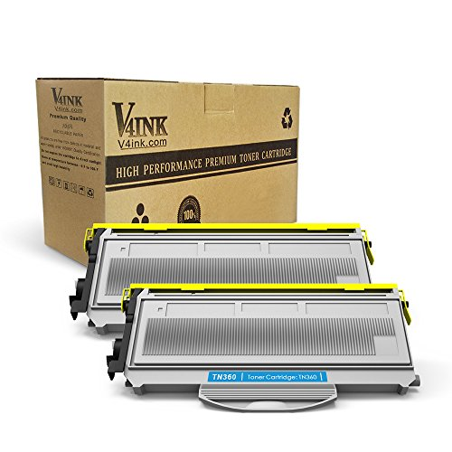 V4INK 2PK New Compatible With Brother TN360 TN330 Black Tone