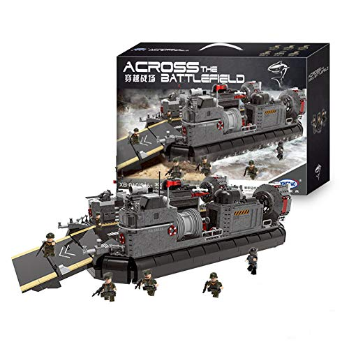 Yyz 3006PCS Military Series Through The Battlefield Armored Personnel Carrier Hovercraft Assembled Toy Building Blocks Model Birthday Gift