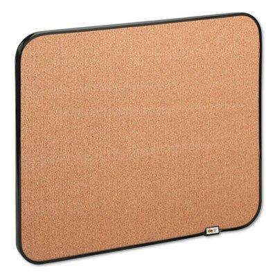 Sticky Self-Stick Cork Board, 22 x 18, Natural, Black Frame, Sold as 1 Each