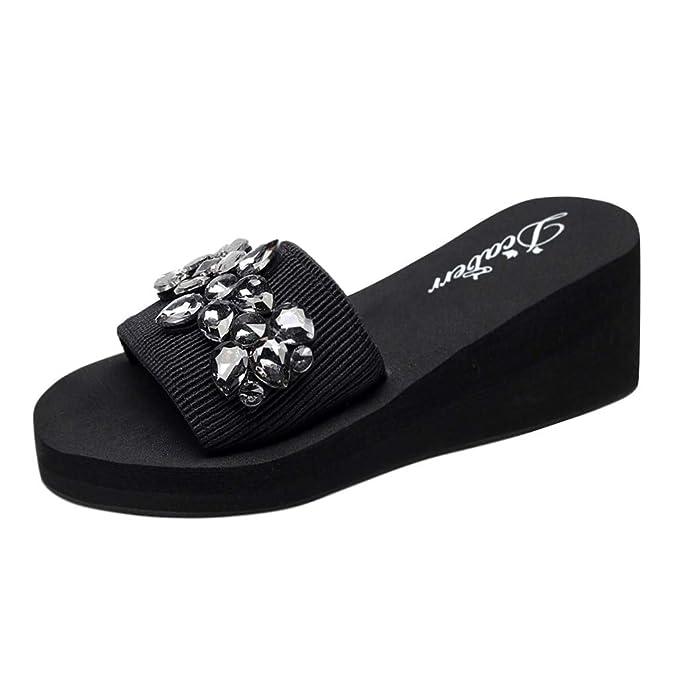 POLP Zapatillas de Estar por casa para Mujer Zapatos Planos Plataforma Moda Punta Redonda y Plana con Zapatos Mocasines Casual Sandalia Cómodo Chanclas ...