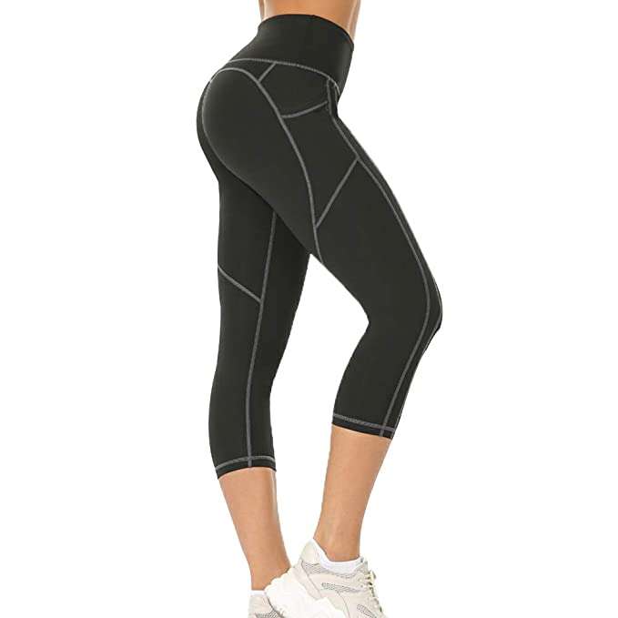 Loozykit Womens Yoga Pants High Waist Tummy Control with Pockets Ultra Soft Workout Yoga Leggings for Women