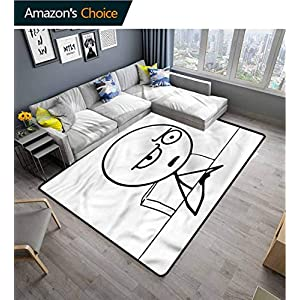 TableCoversHome Humor Checkered Anti-Static Area Rugs, So What Guy Meme Face Pattern Printing Rugs, Fashionable High Class Living Bedroom Rugs (6'x 9')