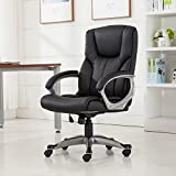 Black PU Leather Office Chair With Ebook
