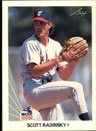1990 Leaf Baseball Rookie Card #484 Scott Radinsky