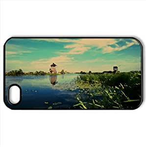 Holland Canal Watercolor style Cover iPhone 4 and 4S Case (Netherlands Watercolor style Cover iPhone 4 and 4S Case)