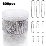 JPSOR Paper Clip—600pcs 28/33/50mm Silver Small and Large Size Paper Clips, for Office and Personal Document Organization