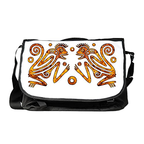 Truly Teague Laptop Notebook Messenger Bag Chinese New Year Aztec Style Fire Monkey 2016