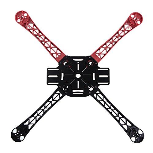 Goolsky 4pcs Qudcopter Multicopter F450 F550 Châssis Rouge + Noir pour F450 F550 Châssis Bras Flamewheel Partie