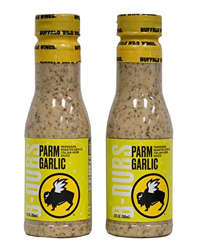 - Bundle of 2 - Buffalo Wild Wings Parmesan Roasted Garlic Sauces, 12 fl oz each (2 pack)