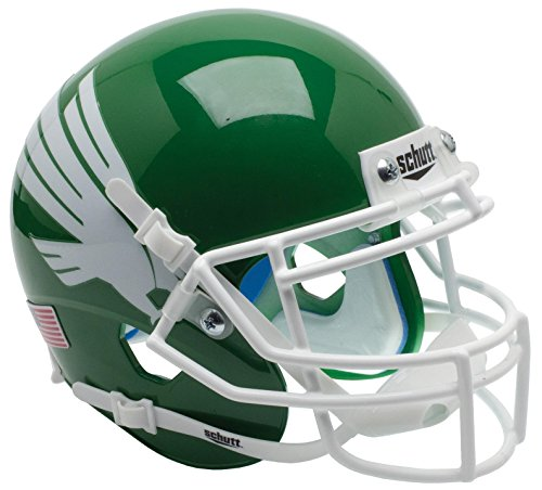 - Schutt NCAA North Texas Mean Green Mini Authentic XP Football Helmet, Kelly Alt. 1
