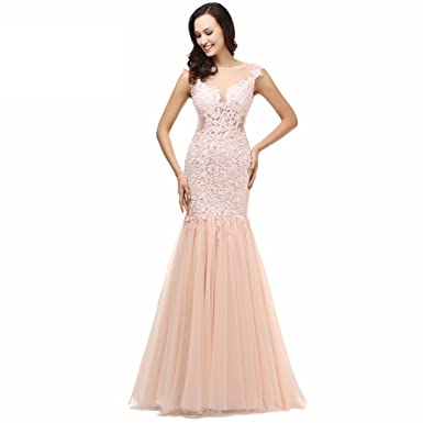 Neyroz Sexy Lace Long Elegant Mermaid Prom Dress Evening Dress Prom (As Picture, 2