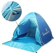 Beach Tent, Sunba Youth Pop Up Tent Beach Umbrella, Easy Up Beach Tents, 90% UV Protection Sun Shelter, Beach Shade for Baby (Blue)