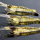 Ownsig 4 cm Soft Shrimp Fishing Lure with Fishy Smell Plastic Fishing Baits Set 10 Pieces