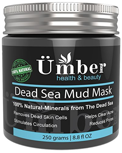 Dead Sea Mud Mask for Face and Body Treatment 100% Natural and Organic Skin Cleanser - Removes Dead Skin, Clear Acne, Reduce Pores & Wrinkles by Umber NYC (8.8 oz)