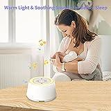 KEBIDU White Noise Machine with Night Light for