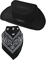 Cowgirl Hat - Cowboy Hats for Kids with Paisley Bandana by Funny Party Hats