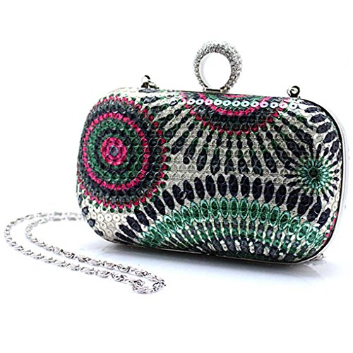 Bridal Bags Silver KAXIDY Red Purse Sequin Clutch Grey Handbags Wedding Satin green Prom Crystal Evening H4qXwCa