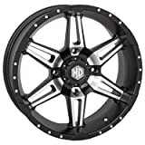 4/137 STI HD7 Alloy Wheel 14x7 5.0 + 2.0 Matte Black/Machined - Fits: Bombardier Outlander 330 2x4 H.O. 2003-2005