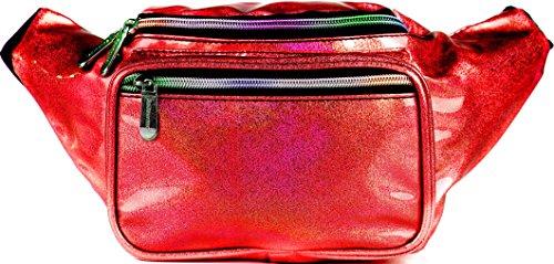 SoJourner Holographic Rave Fanny Pack - Packs for festival women, men | Cute Fashion Waist Bag Belt Bags (Glitter - ()