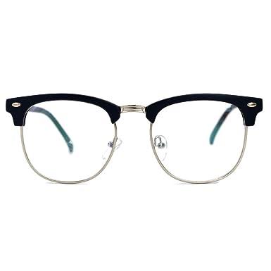 5e8ee63a937 Natwve Co Retro Half Frame Semi-Rimless Eyeglasses Vintage Designer Glasses  (806) (Matt