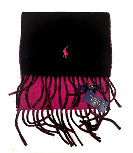 Polo Ralph Lauren Men's Wool/Blend Classic Reversible Scarf Made in Italy ()