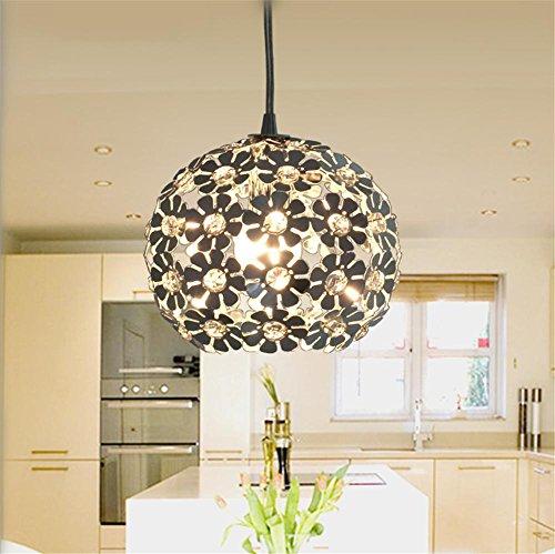 Petals Pendant Lighting - Modern Chrome Chandelier Contemporary Petal Shape Aluminum + Crystal Pendant Light Living Room Bedroom Lighting