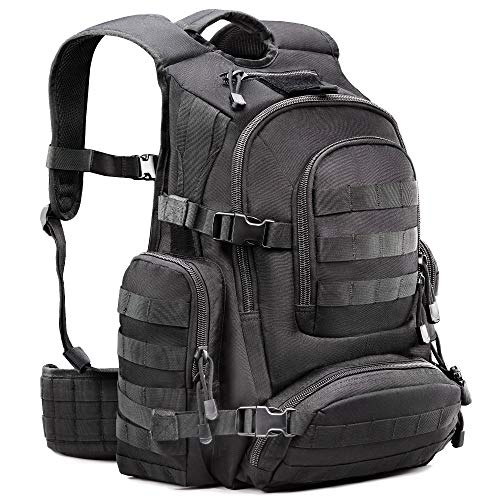 Tactical Military 1050D Nylon Black Backpack Carrying Rucksack with 50L  Capacity   Comfortable Back Panels Ideal for Outdoors e5e3d9ddee855