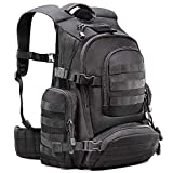 Tactical Backpack - Tactical Military 1050D Nylon Black Backpack Carrying Rucksack with 50L Capacity & Comfortable Back Panels Ideal for Outdoors, Camping, Hunting, Survival, Fishing, Hiking & Sports