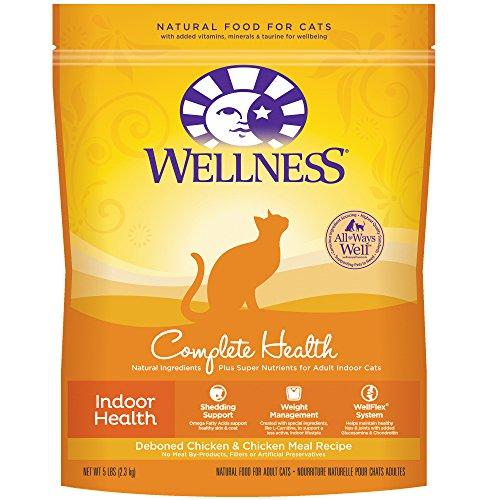 Wellness Complete Health Natural Dry Cat Food, Indoor  Deboned Chicken & Chicken Meal Recipe, 5-Pound Bag