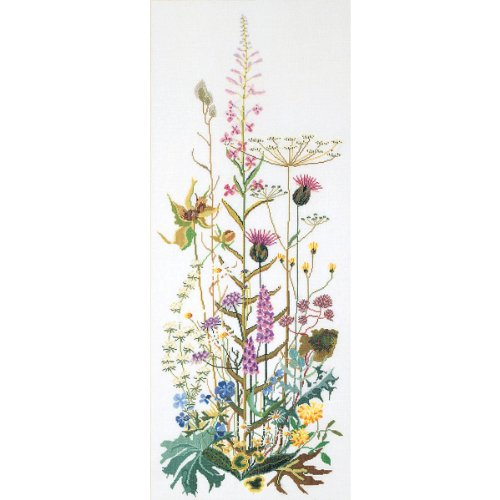Thea Gouverneur TG821A 16 Count Counted Cross Stitch Kit, 17-3/4 by 43-1/4-Inch, Wild Flowers on ()
