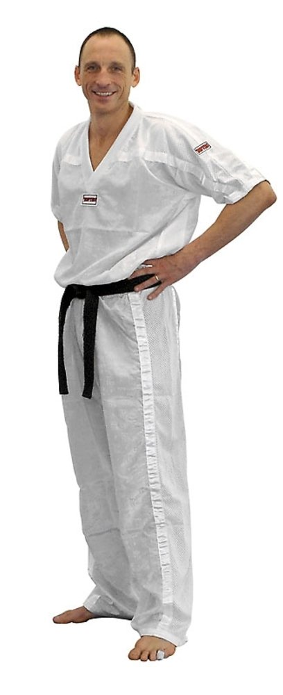 Top Ten Kickboxjacke Mesh 180 weiß-schwarz