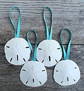 CLEARWATER BEACH Sand Dollar Made with Sand Tropical beach Ornament