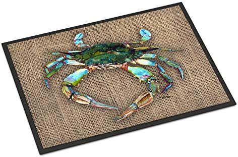 Caroline s Treasures 8731JMAT Crab Indoor or Outdoor Mat 24×36 Doormat, 24H X 36W, Multicolor