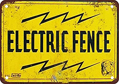 "7"" x 10"" Metal Sign - Electric Fence - Vintage Look Reproduction 2"